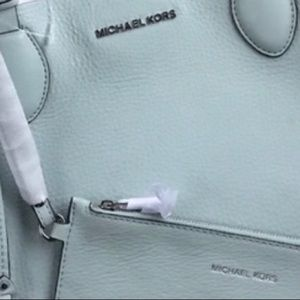 Michael Kors light emry blue/silver reversible